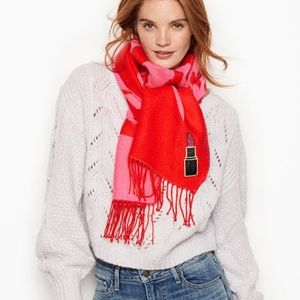 Victorias Secret Scarf Wrap Red pink L…